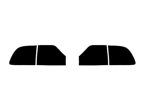 Rtint Tail Light Tint Covers Compatible with Dodge Durango 2014-2020 - Blackout Smoke