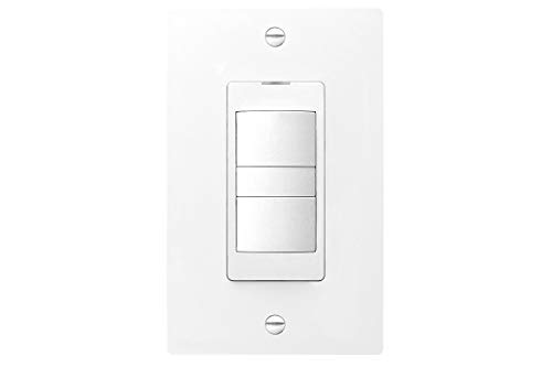 Panasonic FV-WCD02-W WhisperControl Switch for Fan/Light Control, Preset Countdown, Hourly Timer
