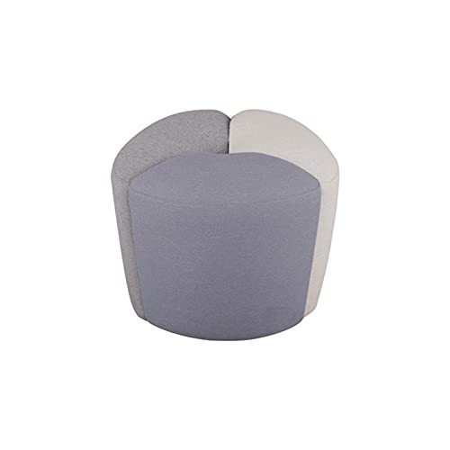HFVDA Sala de Estar Taburete bajo, Taburete de sofá cómodo, Taburete de balcón de Ocio, Taburete de Mesa de té de Mesa de té, Taburete Redondo de Tela Simple, Tela (Color : Gray)