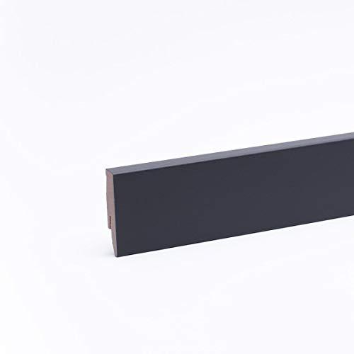 Sockelleiste - Fußleiste 60 x 20 x 2.600mm Grau/Anthrazit