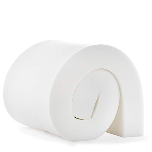 Linenspa High Density Cushion Craft Foam - Perfect for Chairs, Sofas, Headboards, and DIY Projects, 6' x 24' x 72', White