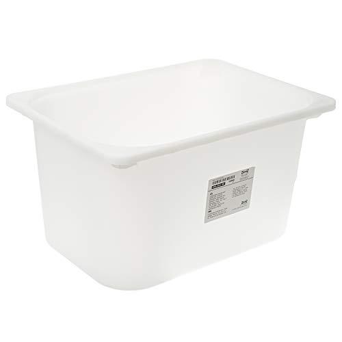 Caja de almacenaje TROFAST, blanco, tamaño 42 x 30 x 23 cm, encaja en marcos TROFAST. Se puede apilar cuando lleva tapa.