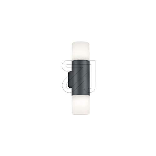 Trio Leuchten Außen Wandleuchte Hoosic 224060242, Aluminium Druckguss anthrazit, Kunststoff weiß, exkl. 2x E27