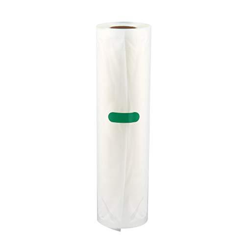 CandyTT Bolsa de envasado al vacío de Alimentos para el hogar para Alimentos al vacío Bolsa de Carga Larga de Mantenimiento Fresco 12/15/20/25/28 cm * 500 cm 1 Rollo (transparente25 * 500 cm)