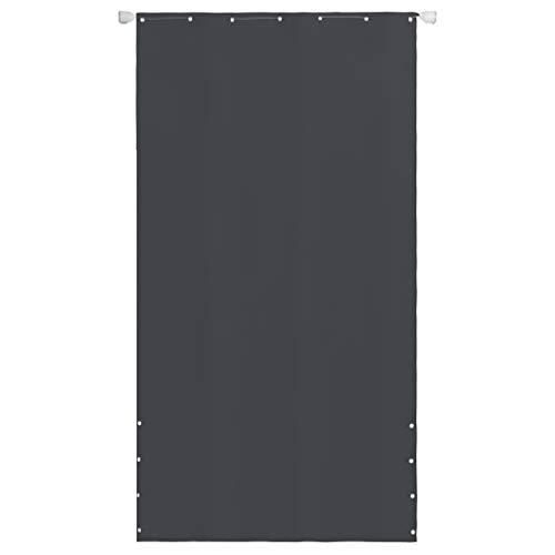 Festnight Toldo Lateral para Balcón y Terraza Tela Oxford Impermeable y con Protección UV 140 x 240 cm Gris