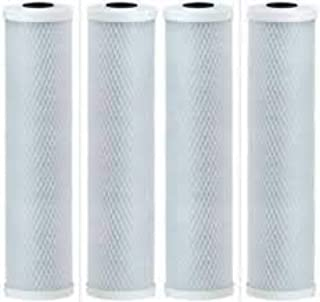 4-Pack Compatible for WaterPur CCI-10-CLW Activated Carbon Block Filter - Universal 10 inch Filter for WaterPur Clear Water Filter Housing