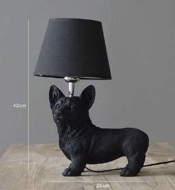 LJJLJJ Lámpara de decoración de la lámpara de decoración de Estudio Creativo de la lámpara de la decoración del Estudio,Negro,Corgi