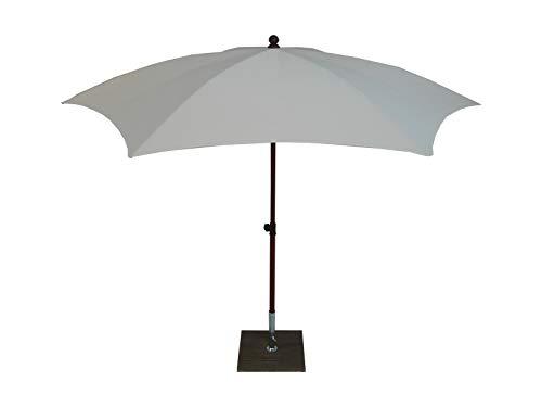 Maffei Art 66 Madera. Parasol Hexagonal diamètre cm.280 en Tissu PolyMa. Monture Effet Bois. Made in Italy. Couleur Ecru