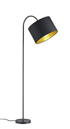 Trio Lighting Hostel Lámpara de pie, 60 W, Negro y dorado