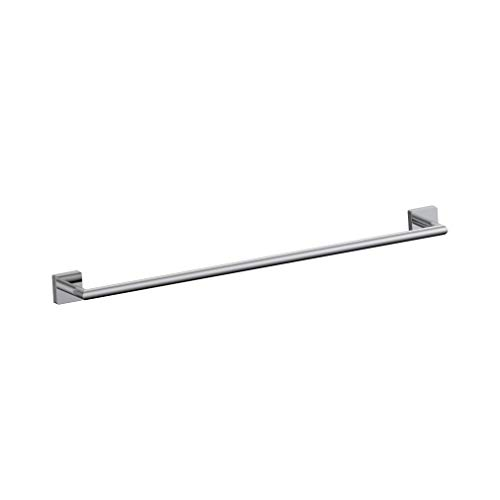 INDA - Badezimmerzubehör, Serie Forum Quadra, Handtuchhalter für die Wand aus verchromtem Messing, Maße Handtuchhalter 50,3 x 7,2 x 4,5 cm, Abstand 45,8 cm