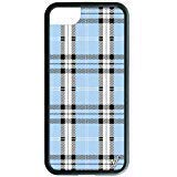 Wildflower Limited Edition Cases Compatible with iPhone 6, 7, 8 or SE (Blue Plaid)