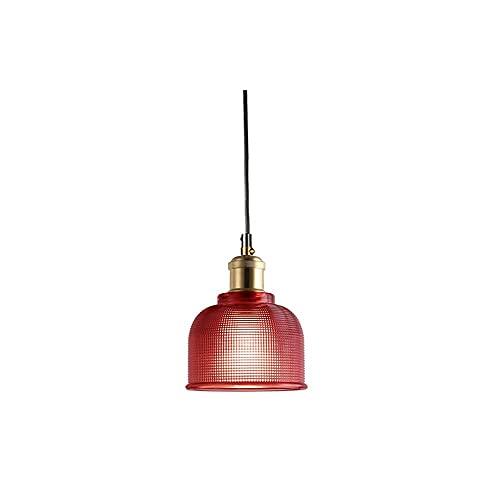 Lámpara Colgante de Vidrio Lámpara Colgante Industrial Vintage Lámpara de Pantalla de Vidrio Estilo Loft Lámpara de Pantalla (Violeta)