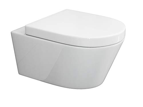 SSWW Beta WC suspendu design avec siège Softclose et bord de rinçage fermé Effet lotus Design moderne 540 x 360...