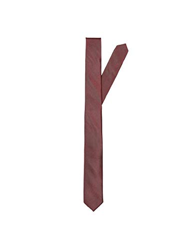 SELECTED HOMME SELECTED HOMME male Krawatte Seiden- ONE SIZERum Raisin