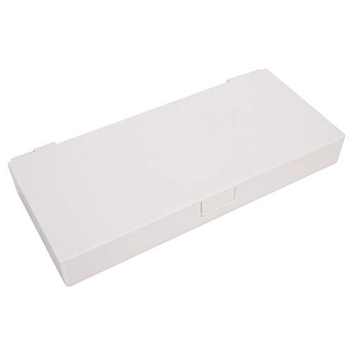 Bandas de goma Caja de almacenamiento de clips Organizador de pendientes Cajas de almacenamiento de joyas duraderas para uso diario para peluquerías para peluqueros de salón(white)