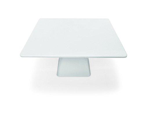 Tortenplatte aus Melamin - auf Fuß, eckige Form - in zwei verschiedenen Größen - Abmessung: 30 x 30 x 16 cm/Abmessung: 36 x 36 x 19 cm (A1 - Abm.: 30 x 30 x 16 cm)