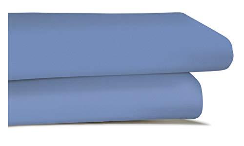 Irisette Jupiter 0008/20  Spannbetttuch hellblau 100 x 200 cm