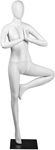 YUXO Maniquí Costura Masculino Ajustable Maniquí Femenino Profesional de Cuerpo Completo para Sentarse, Estante de exhibición de Ropa, Accesorios de Ventana para Mostrar Tela Maniquíes De Costura