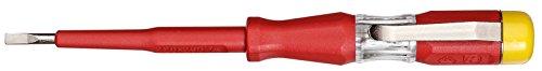 GEDORE Prüfschraubendreher für 220-250Volt Wechselspannung, 3 mm Klingenbreite, Mit Metallclip und gelber Kappe