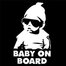 Baby on Board Auto Decalcomanie Finestra Etichetta bianca by Inspired Walls®
