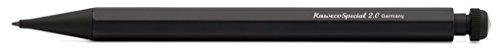 Kaweco SPECIAL S Druckbleistift 2.0 I Minenbleistift aus hochwertigem Aluminium in oktogonalem Acht Kant Format I Druckminenbleistift 10,5 cm I Druck-Bleistift nachfüllbar Schwarz ohne Radiergummi
