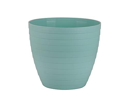 Macetas para Exterior de Plástico 18 cm (2 uds) Maceta plástico Grande para Plantas. Macetero Interior Terraza Moderno de Colores para Jardinería. Tiestos Jardineras para Flores