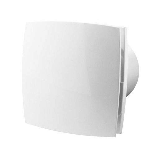 Silent Badlüfter Ø100mm mit Feuchtigkeitssensor und Nachlauf – weiß