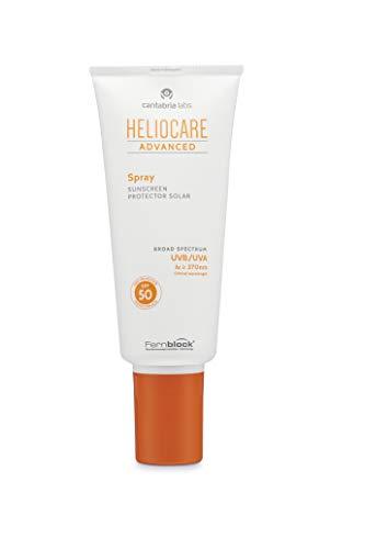 Heliocare Advanced Spray SPF 50 - Crema Solar Corporal, Ligera, de Rápida Absorción, para Todo Tipo de Piel, Alta Protección, Spray Multiposición, 200ml (12085)