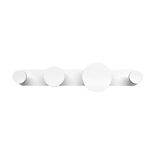 Perchero De Pared,niños Dormitorio Ganchos para Abrigos Moderno Simple Decoración Ganchos Salón Dormitorio Entrada Circular Perchas Salud Ambiental Blanco 50cm
