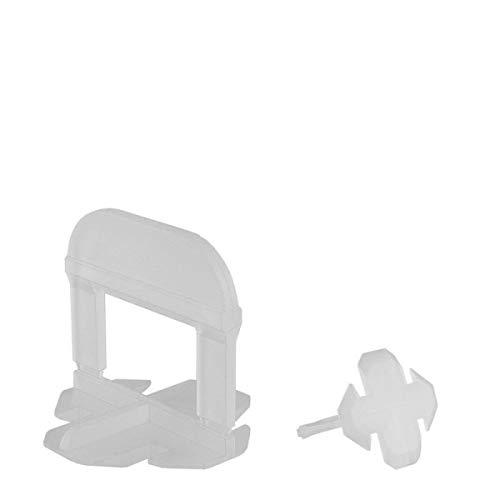 Lantelme 100 Stück T Zuglaschen Fliesenverlegehilfe 1 mm Fugenbreite Fliesen versetzt Verlegen 5059
