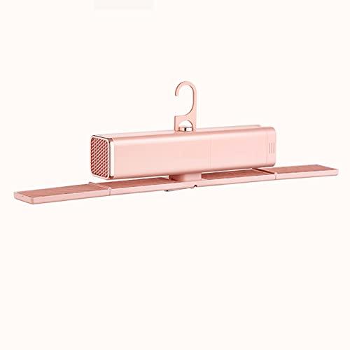 HRD Portátil Secadora de Ropa Eléctrica Mini Secadora, Estante de Secado 400W para Negocios Casa Viaje Puede soportar 3.5KG Esterilización Temporización (Color : Pink)