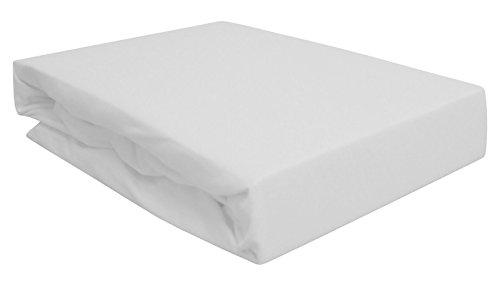 Arle-Living Spannbettlaken für Wasserbett Boxspringbett oder Übergrößen 180x200-200x220 cm - hochwertige 190 gr/m² - breites Farbsortiment(weiß/White/Blanc)