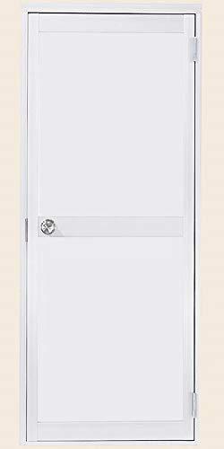 ロンカラーガラスドア 半外付型 ランマなし 08520 W:850mm × H:1,974mm ガラス種類(上):同色アルミパネル/ガラス種類(下):同色アルミパネル 製品色:ホワイト(W) 勝手:右勝手 アングル:なし LIXIL リクシル TOSTEM トステム