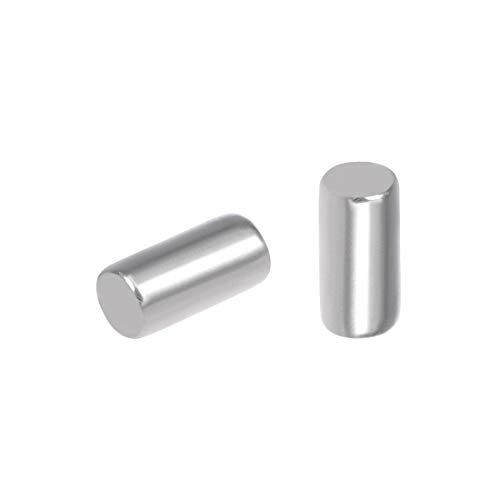 uxcell 100Pcs 2mm x 4mm Dowel Pin 304 Stainless Steel Pegs Support Shelves Silver Tone
