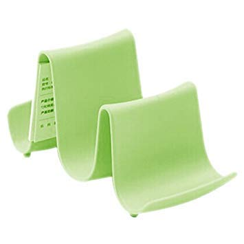 Wave Shape Pot Cover Stand - TOOGOO(R)New Plastic Kitchen Wave Shape Pot Pan Cover Lid Shell Stand Holder Racks Ladle Spoon Storage Rack Cooking Tools(Green)