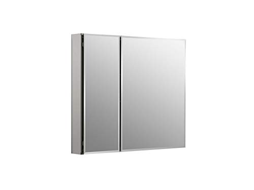 KOHLER K-CB-CLC3026FS Frameless Double Door 30 Inch x 26 Inch Aluminum Bathroom Medicine Cabinet; Recess or Surface Mount