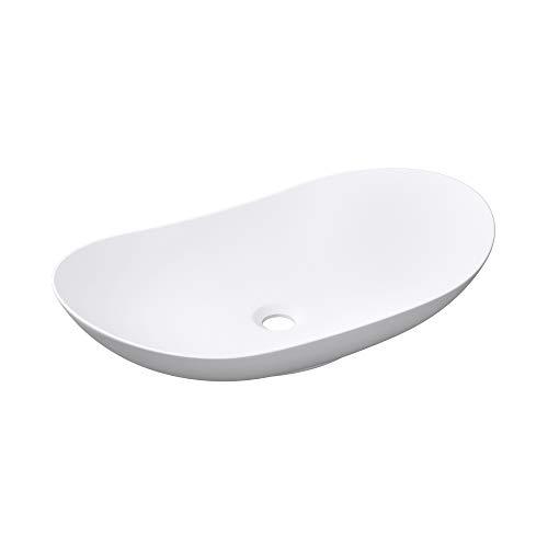 Mai & Mai Aufsatzwaschbecken Brüssel858 Waschschale Waschbecken in Weiß matt aus Keramik inkl. Nano-Versiegelung