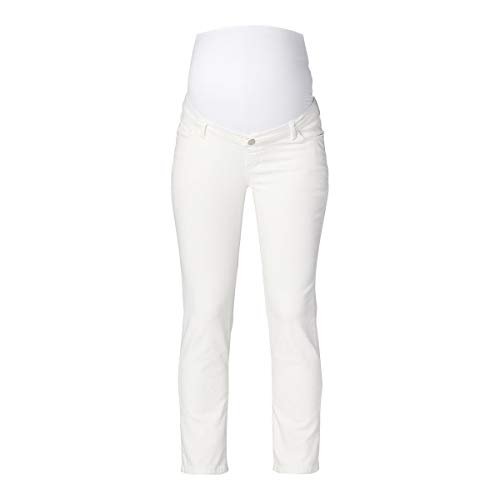 Esprit Maternity Pants Denim OTB STR 7/8 Jeans, Bianco intenso-110, 44 Donna