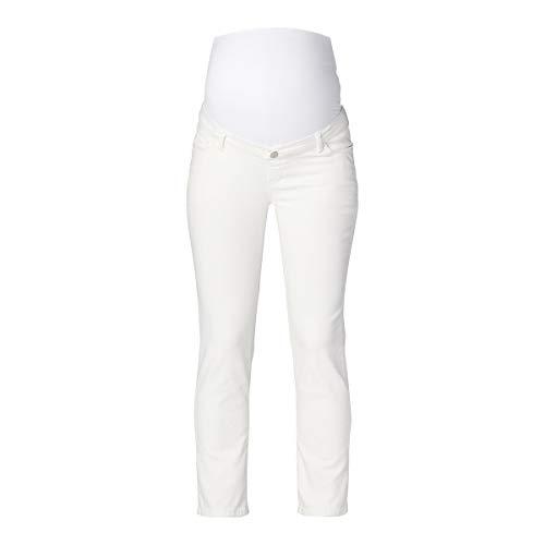 Esprit Maternity Pants Denim OTB STR 7/8 Jeans, Bianco intenso-110, 50 Donna