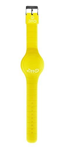 ZITTO Orologio mini Led Touch Silicone impermeabile Unisex 36 mm vari colori scegli + omaggio penna glitterata + omaggio segnalibro (Giallo)
