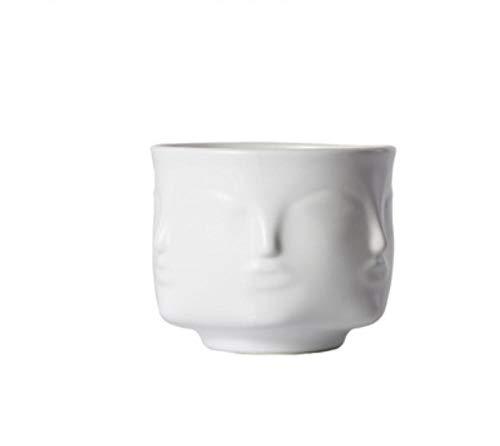 LJXLXY Florero de la Cara Luz nórdica Oro Carnicería Maceta Tienda de uñas Decoración Creativa Adornos de cerámica Accesorios para el hogar V