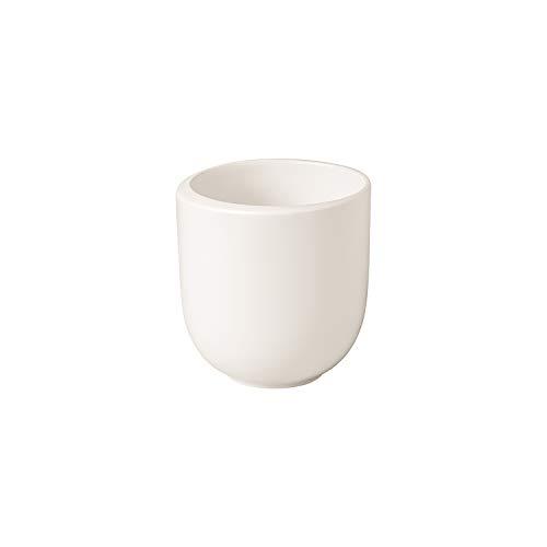 Villeroy & Boch - NewMoon Becher ohne Henkel, moderne Tasse für Tee und Kaffee, Premium Porzellan, weiß, spülmaschinengeeignet