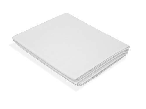 Soft Dream Baumwolle Bettlaken Betttuch weiß ohne Gummizug - 145g/m2 135/200 140/200 155/220 160/200 200/200 200/220 220/240 220/260 (140 x 200 cm)