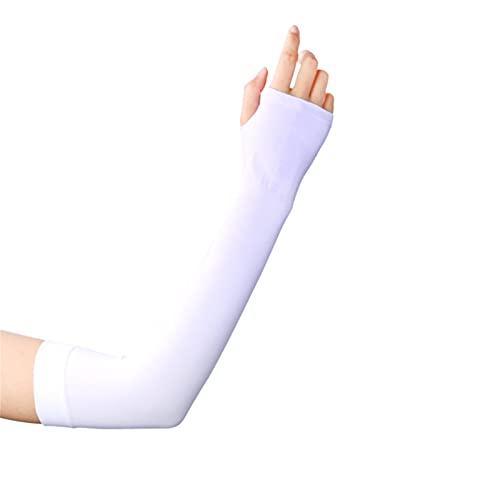 COEMA UV Schutz Arm Ärmeln mit Daumen Löcher 1 Paar UPF 50 + Sport Kompression Kühlung Arm Abdeckung für Laufen Radfahren Fahren Angeln Golf & Baseball
