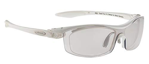 ALPINA PSO TWIST FOUR VL+ Sportbrille, Unisex– Erwachsene, white, one size
