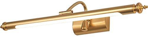 Amerikaanse spiegellamp, badkamerlamp, LED kaptafellamp, plafondverlichting, rolsnownow, warmwit, eenvoudig zonder boren (grootte: 84 cm 15W)