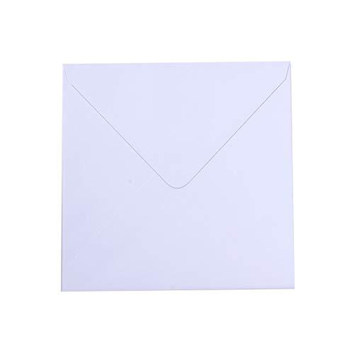 Vaessen Creative Florence Briefumschläge quadratisch Groß Weiß, 5 Stück, für Geburtstagskarten, passende Faltkarten Erhältlich