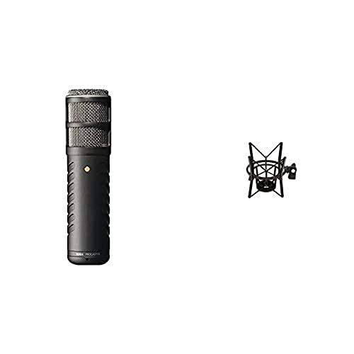 Rode Microphones ProcasterMicrófono para grabación + PSM1Soporte para micrófono, Color Negro