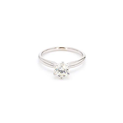 14k White Gold Lab-Grown Diamond Solitaire Wedding Engagement Ring (1/2 cttw, I-J Color, VS2-SI1 Clarity) Size 6