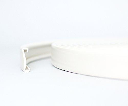 1m PVC Kunststoff Handlauf Treppenhandlauf 40x8 mm viele Farben (weiß)
